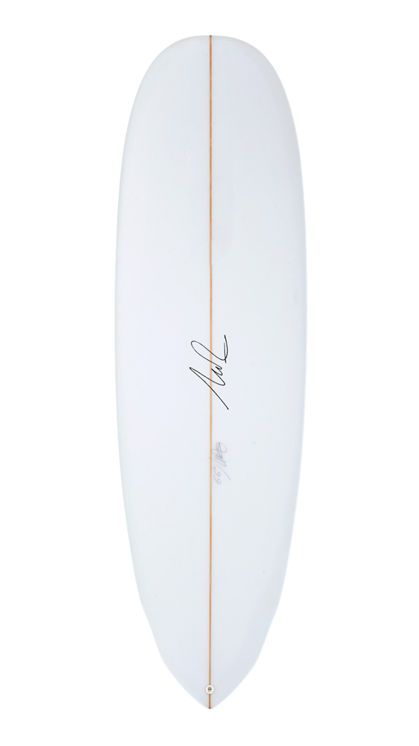 SJ beginner surfboard deck
