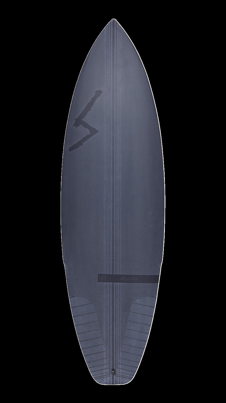 Toro black surfboard back