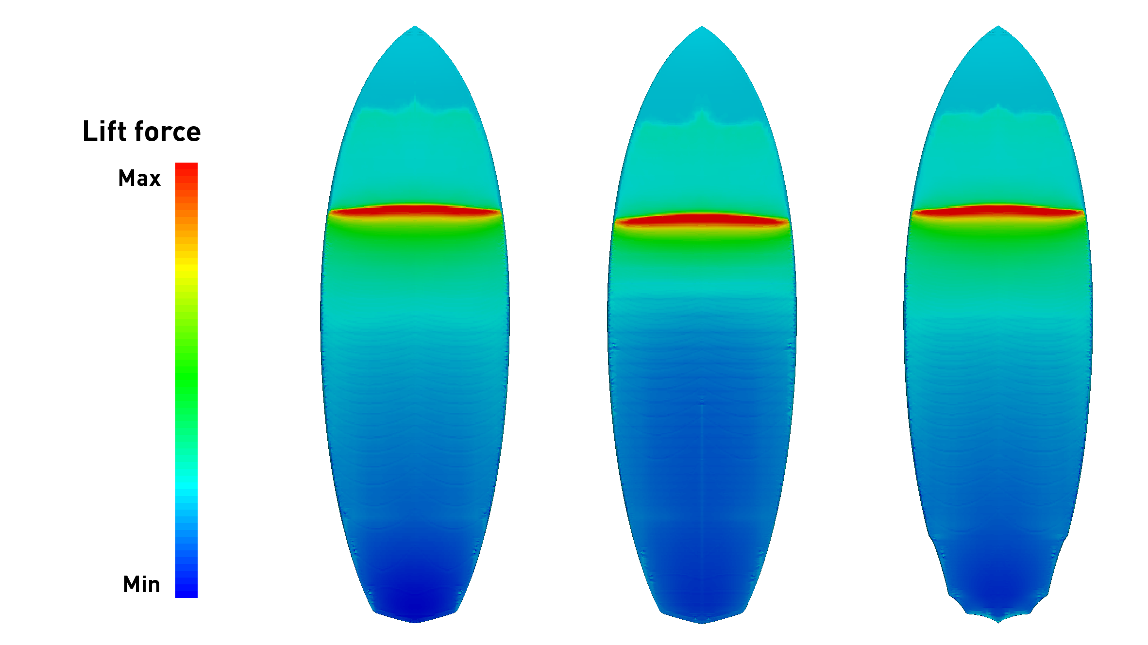 Sequoia CFD surfboards Enzo board comparaison
