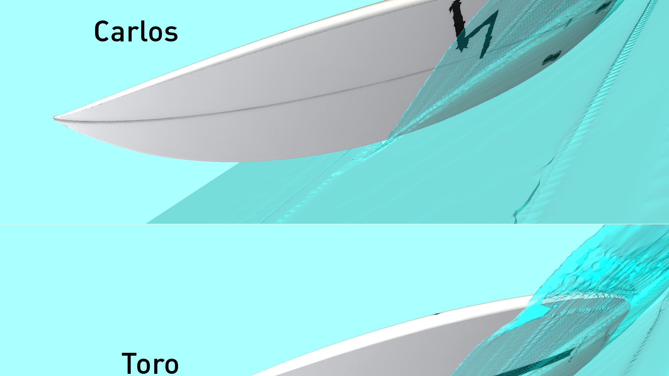 High performance surfboards Enzo surface